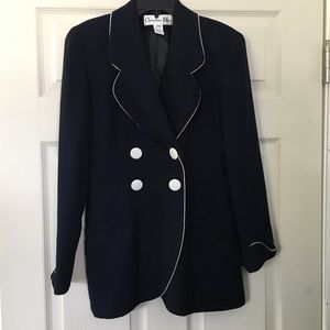 Christian Dior Navy Blue fully-lined Blazer Size 2
